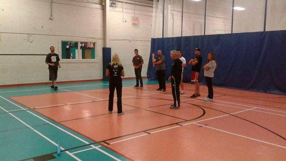 Participants at Fundamental Movement Skills workshop