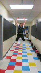 Jumping in the hallway