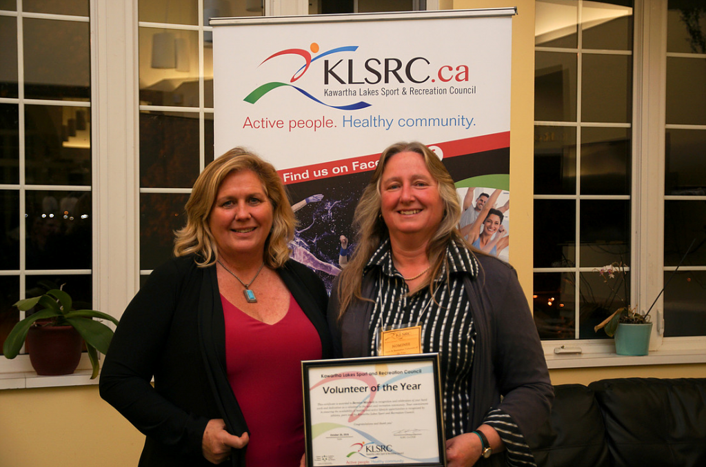 Award winner, Bernie Mitchell and her nominator, Kelly Russell