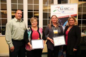 Award winners Lori Grills and Bernice Mitchell