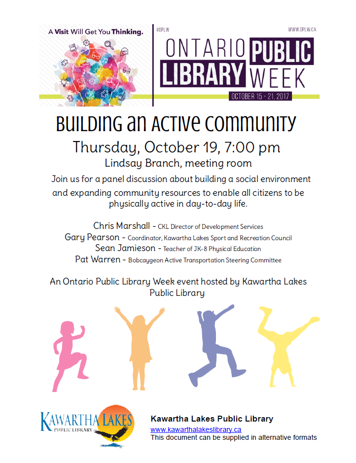 Building an Active Community event poster