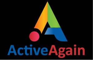 Active again logo black background